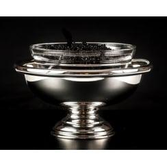 Caspian Silver Caviar Bowl