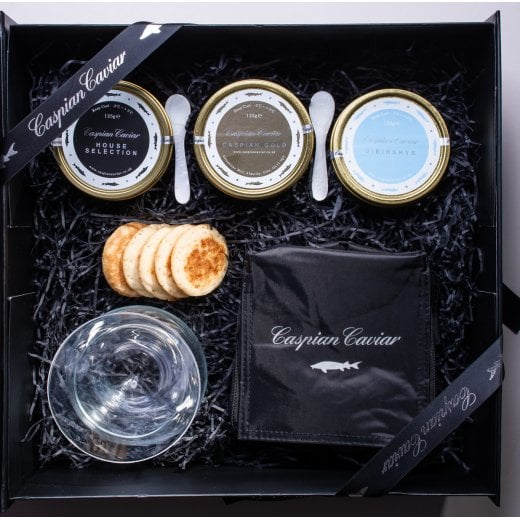 Caspian Caviar Golden Caviar Trilogy 250g (Boxed)