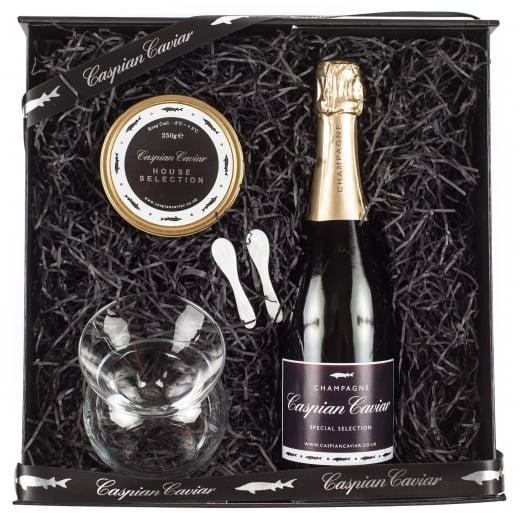 Caspian Caviar House Fizz Gift Set