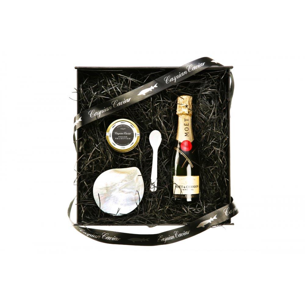 Caspian Caviar Mini Moet Gift Set