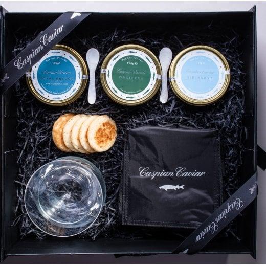 Caspian Caviar Caspian Caviar Trilogy 125g (Boxed)