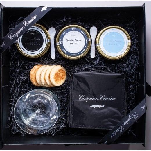 Caspian Caviar White Caviar Trilogy 50g (Boxed)